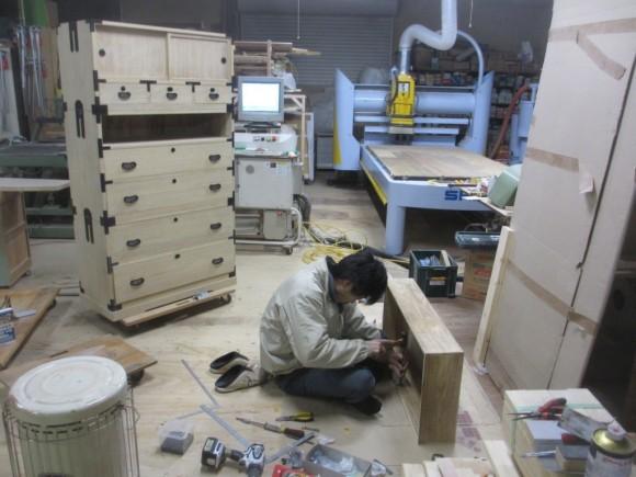 桐箪笥修理